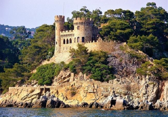CASTILLOS DE ESPAÑA-Castell d'En Plaja en Lloret de Mar