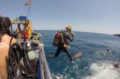 boat diving salgar menorca